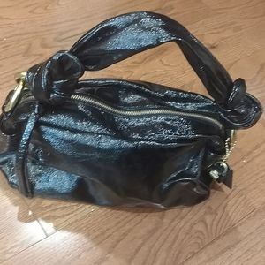 Black patent leather Coach  j 0893- 13256 purse